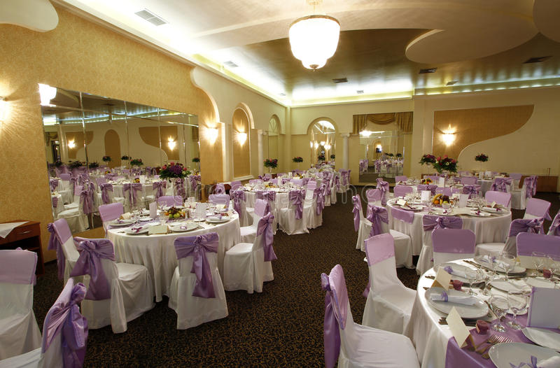 Wedding grand ballroom stock photography