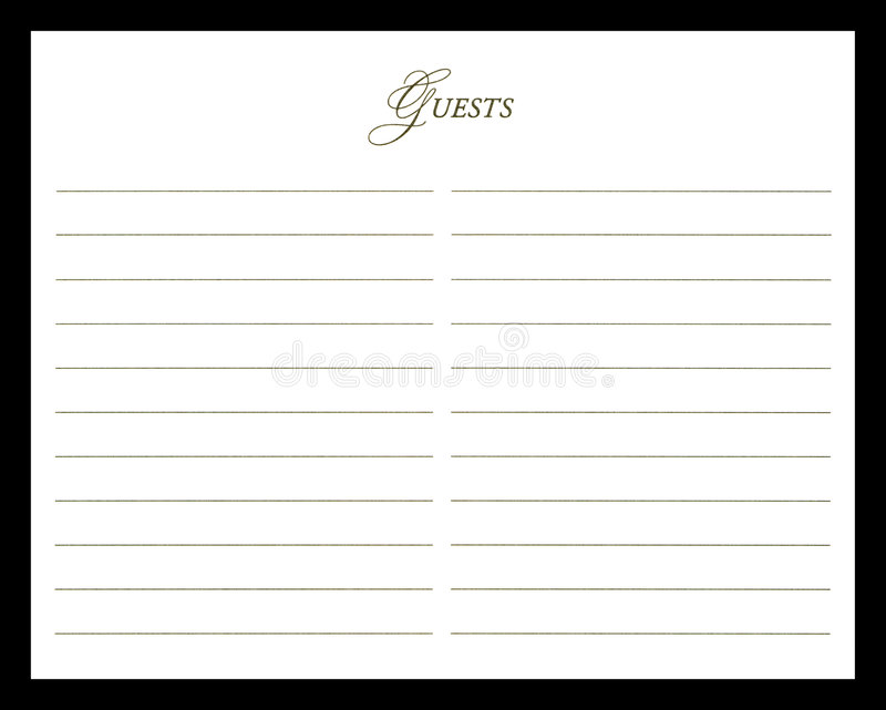wedding guest book stock image image of autograph. Black Bedroom Furniture Sets. Home Design Ideas