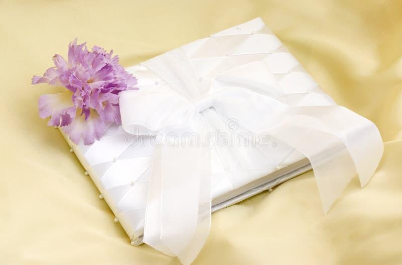 Wedding guest book stock photo