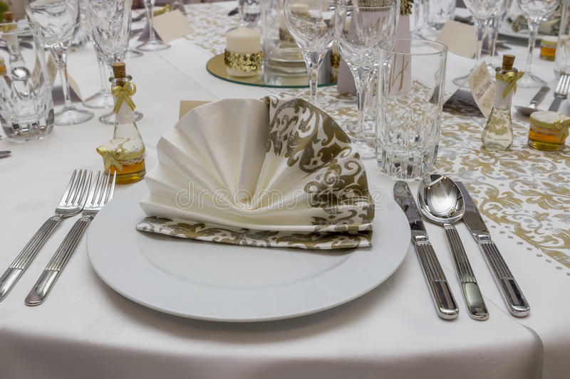 Wedding Guest Table Decorations 4 Stock Image