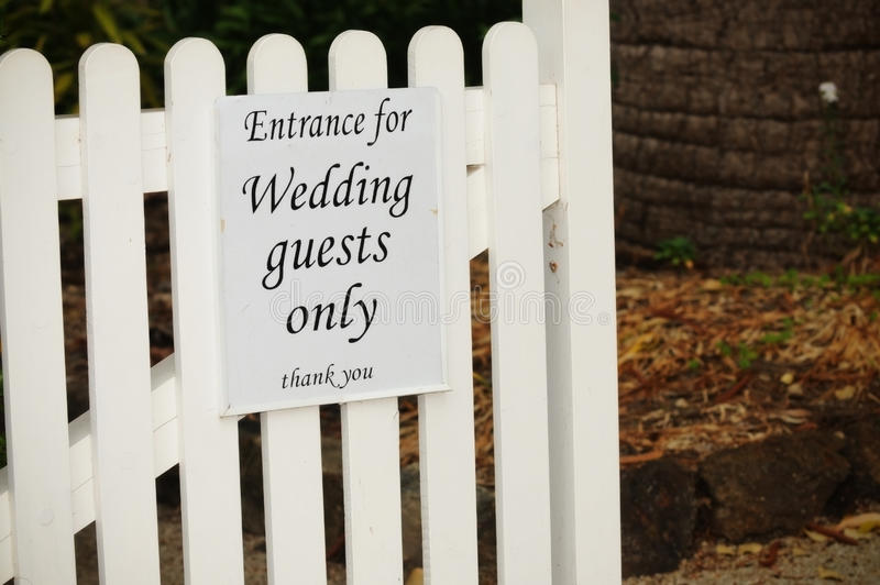 Download Wedding Guests Only stock image. Image of outside, marriage - 21156499