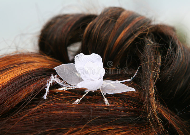 Wedding hairstyle stock photography