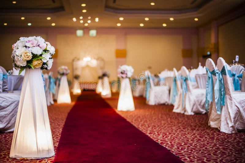 Download Wedding Hall Decoration stock image. Image of object - 40806259