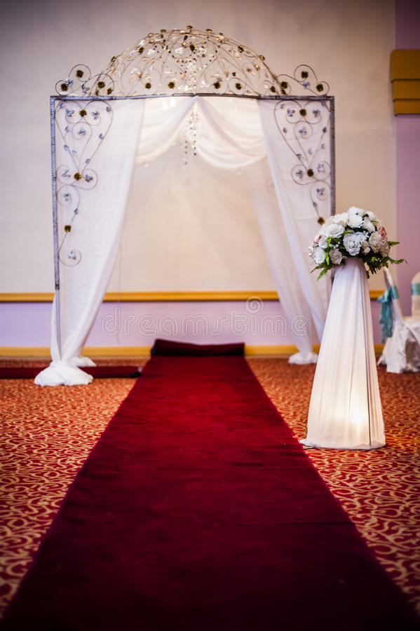 Download Wedding Hall Decoration stock photo. Image of business - 40806394
