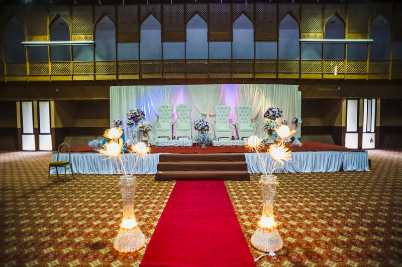 Wedding hall decoration stock photo. Image of decoration ...