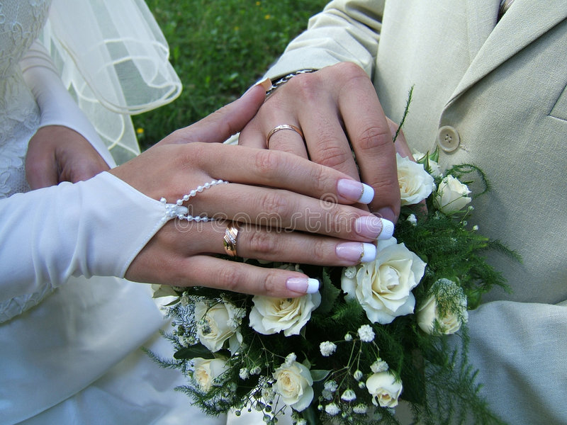 Wedding_hands stock photography