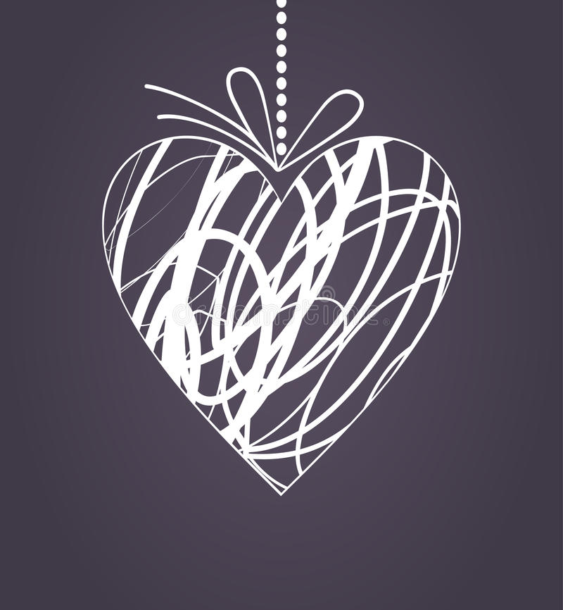 Download Wedding heart2 stock vector. Image of stoned, illustration - 18865378