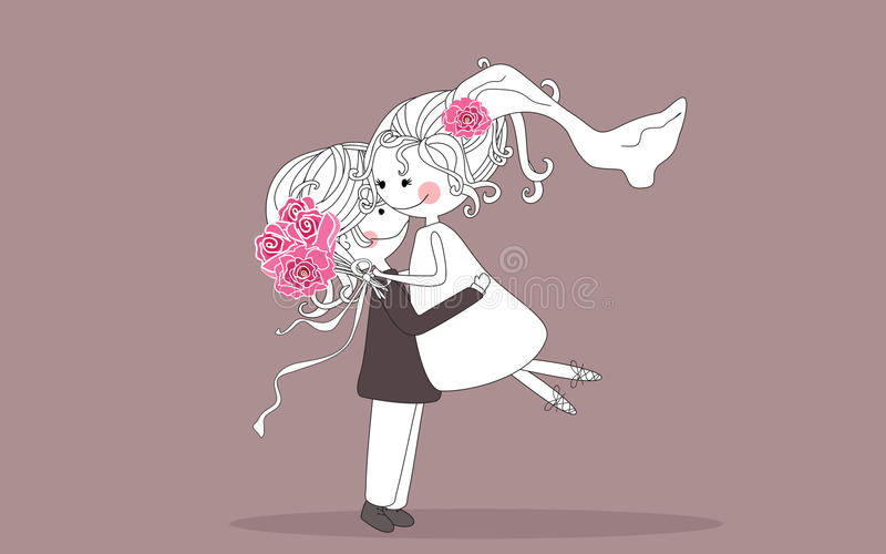 Download Wedding hug stock vector. Image of relationship, husband - 10067803