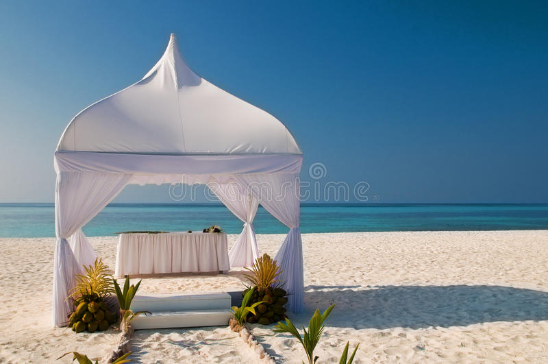 Download Wedding hut at the beach stock photo. Image of beach - 16182158