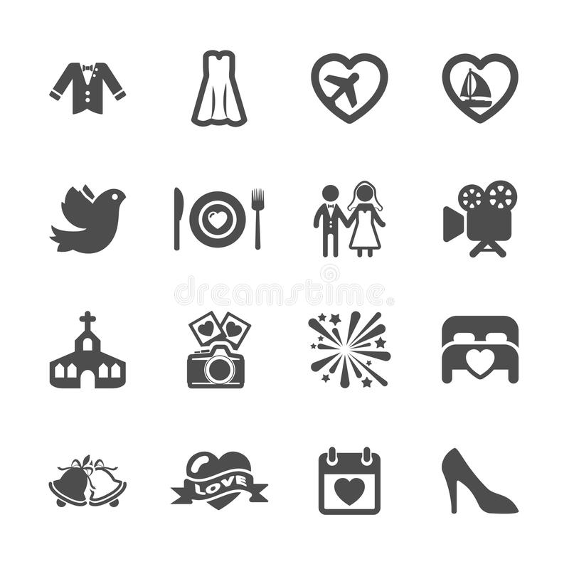 Free Wedding Icon Set 3, Vector Eps10 Stock Image - 49080281