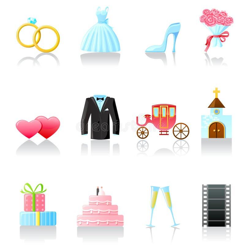Wedding Icons Royalty Free Stock Image