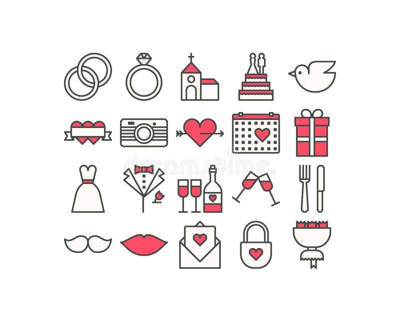 Wedding Icons royalty free illustration