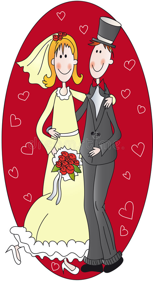 Wedding illustration royalty free illustration