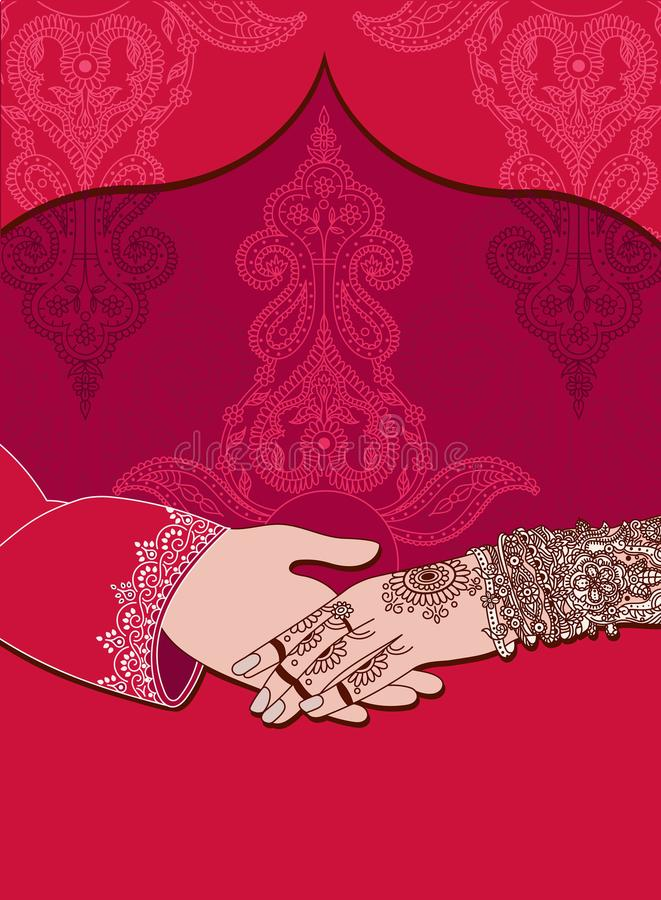 Wedding indian invitation card on red background india marriage download wedding indian invitation card on red background india marriage templateautifully decorated indian stopboris Images