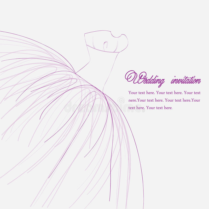Wedding invitation royalty free illustration
