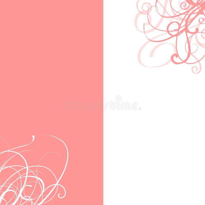 Wedding invitation. With floral patterns stock illustration
