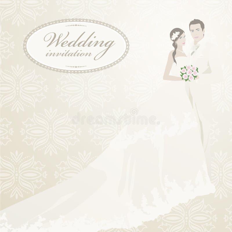 Download Wedding invitation stock vector. Illustration of damask - 25031907