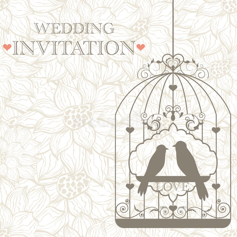 Wedding invitation royalty free illustration