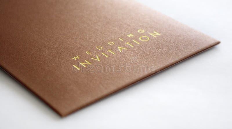 Wedding invitation. A wedding invitation card isolated stock photography
