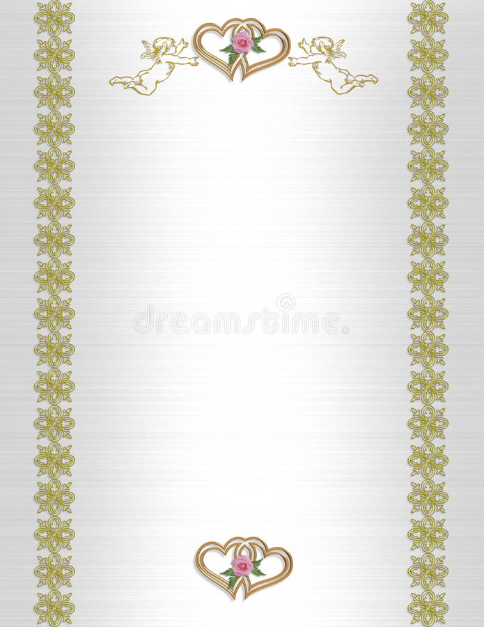 Download Wedding Invitation Angels And Hearts Stock Illustration - Image: 13785549