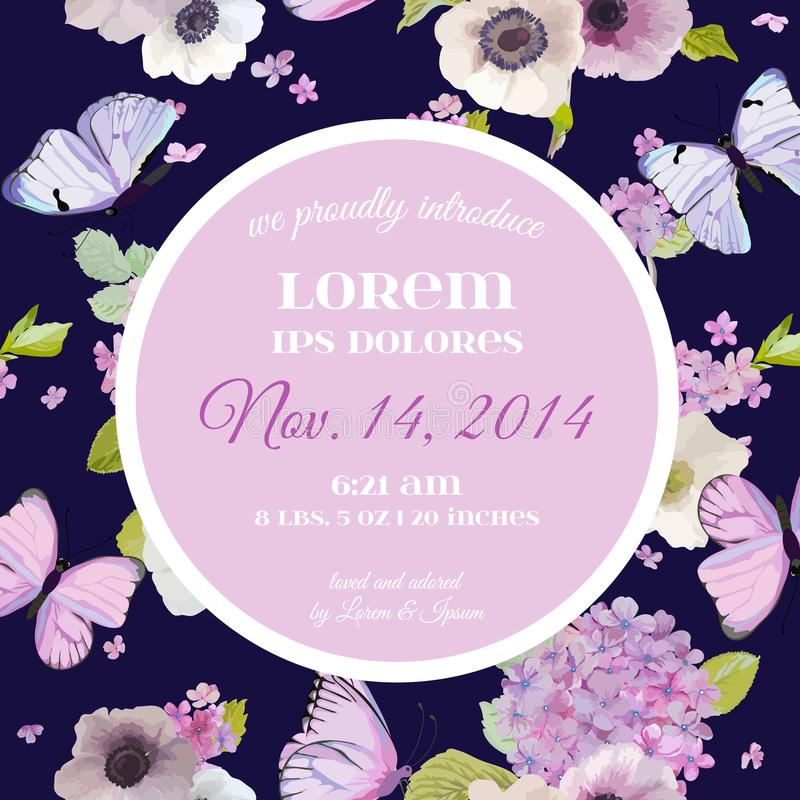 Wedding Invitation Baby Shower Template. Save The Date Card With ...