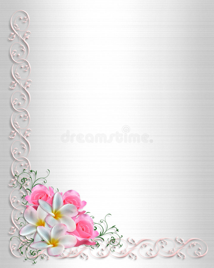 Wedding Invitation Background Floral Border Stock Illustration