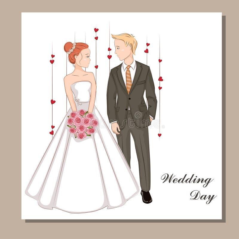 Beautiful bride. Invitation card. stock images