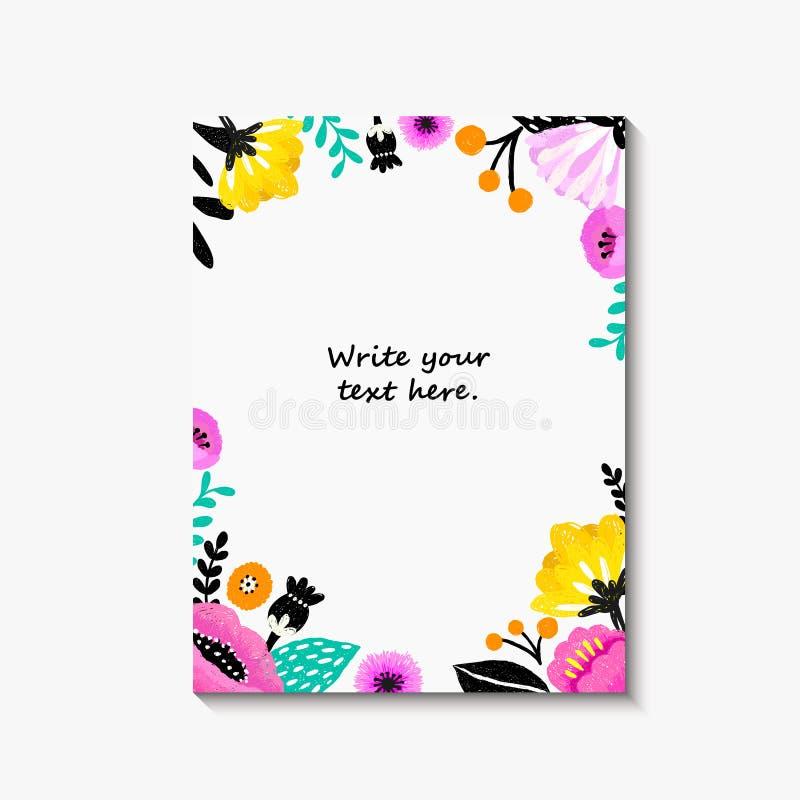 Wedding Invitation, Or Birthday Card , Floral Invite, Modern Card ...