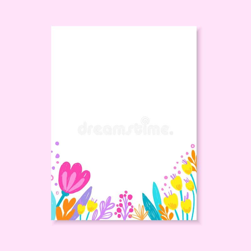 wedding invitation or birthday card floral invite modern card