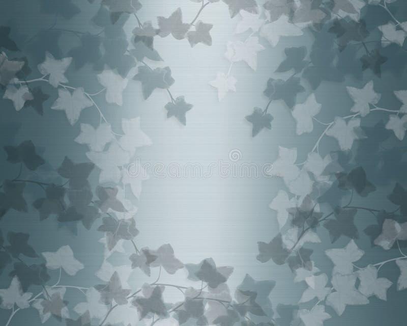 Blue Wedding Invitation Background: Wedding Invitation Blue Ivy Background Stock Illustration