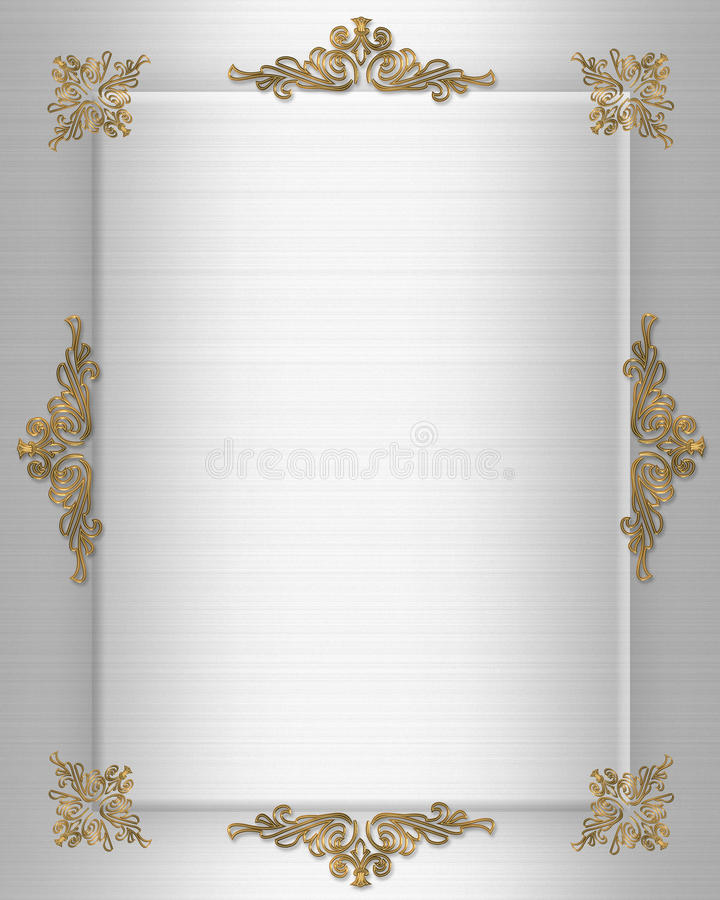 wedding invitation border stock illustration  illustration