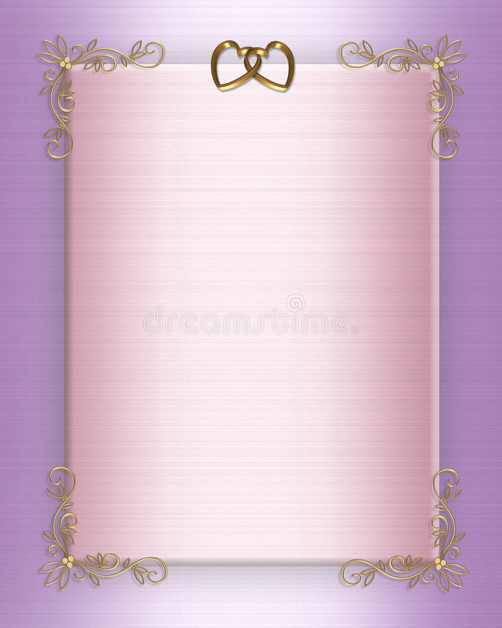 Wedding Invite Borders: Wedding Invitation Border Elegant Satin Stock Illustration