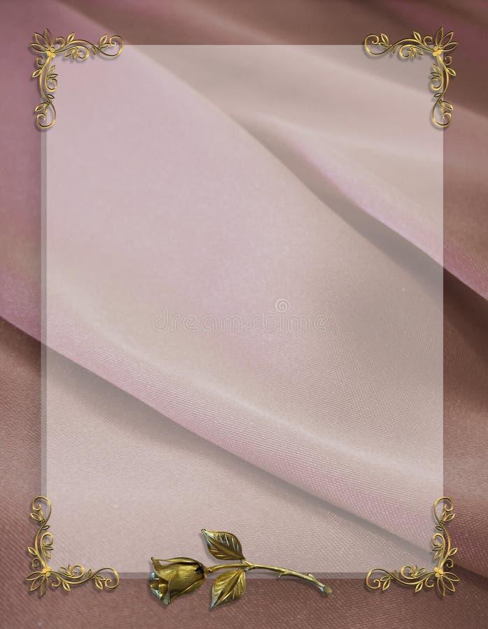 Free Wedding Invitation Border Mauve Satin Royalty Free Stock Photo - 7066155