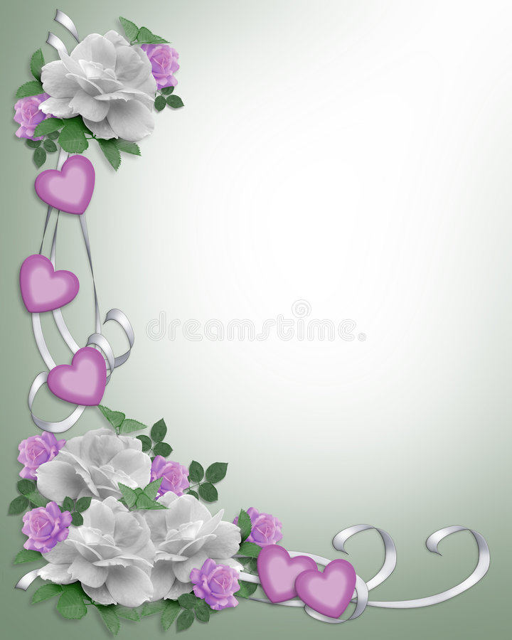 Download Wedding Invitation Border White Roses Stock Illustration - Image: 7838315