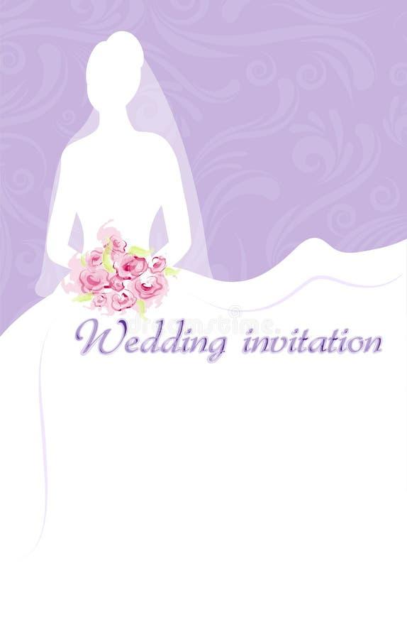 Wedding Invitation With Bride Stock Vector - Image: 33005493