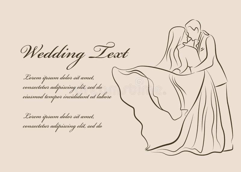 Wedding invitation bride and groom are kissing line border vector download wedding invitation bride and groom are kissing line border vector design stock vector stopboris Images