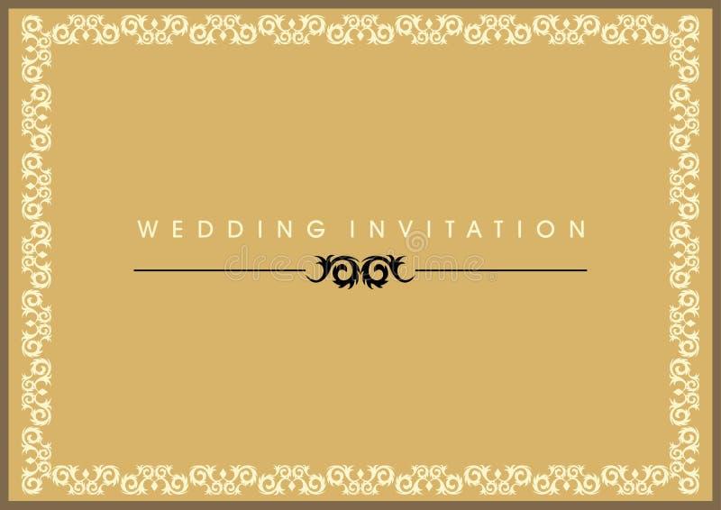 Download Wedding Invitation Card stock vector. Image of border - 10205577