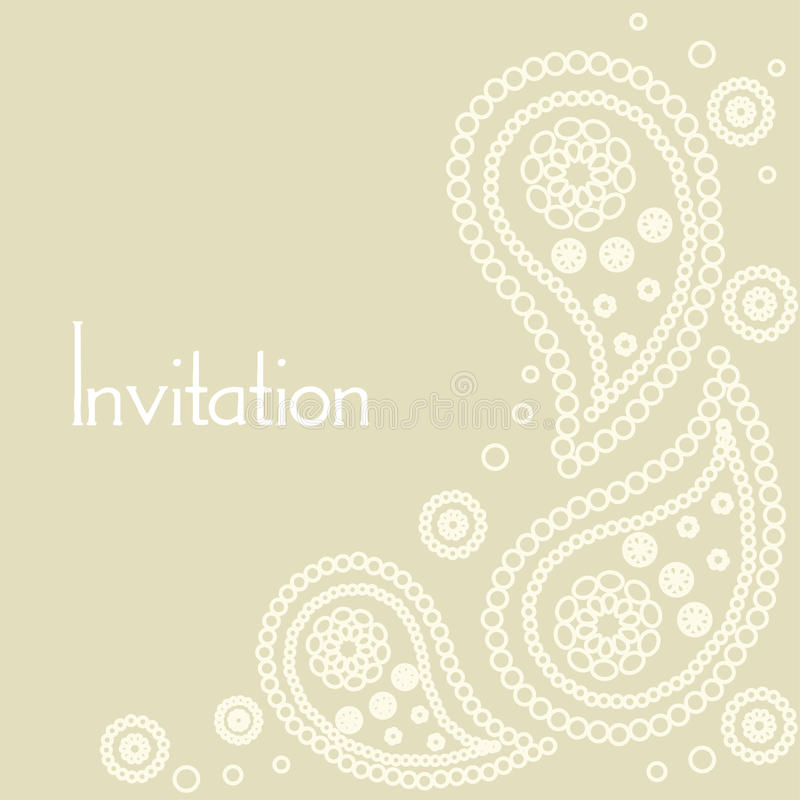 Download Wedding invitation card stock vector. Image of drawn - 13821867