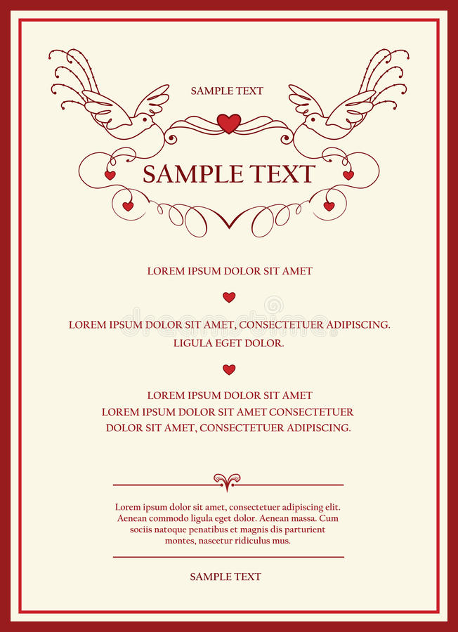 Download Wedding Invitation Card Stock Vector. Illustration Of Emblem    18505440