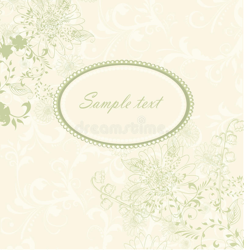 Wedding invitation card stock illustration