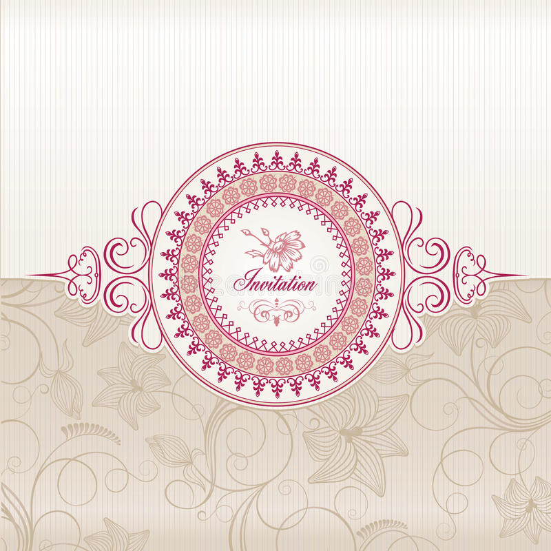 Download Wedding invitation card stock vector. Image of graphic - 21054823