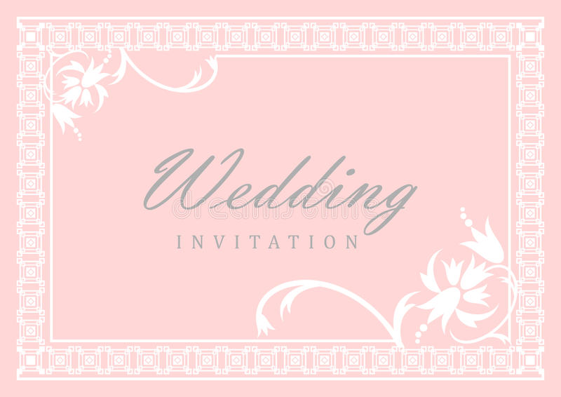 Wedding Invitation Card royalty free illustration