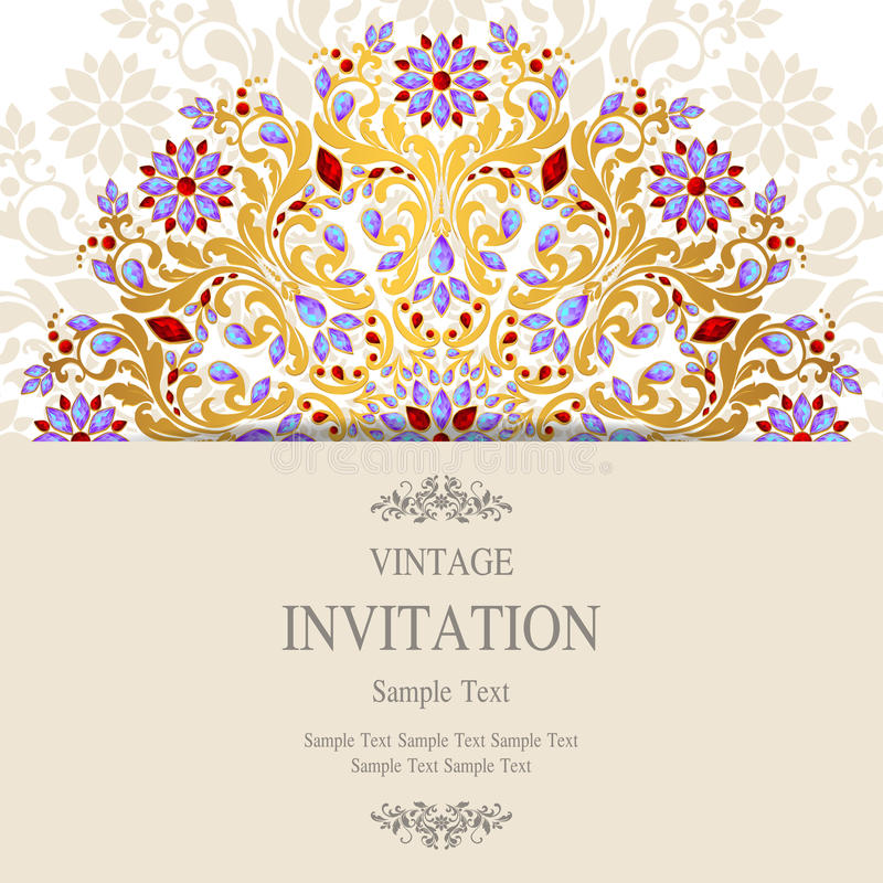Wedding Invitation Or Card With Abstract Background. Stock ...