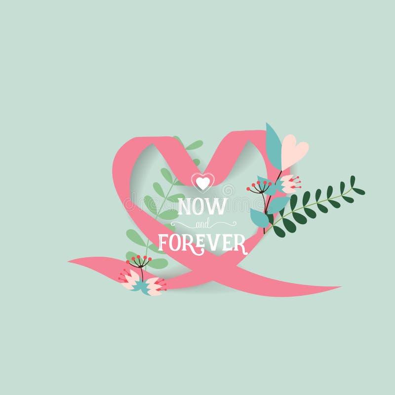 Wedding invitation card design with cute flower templates. Vector illustration.  stock illustration