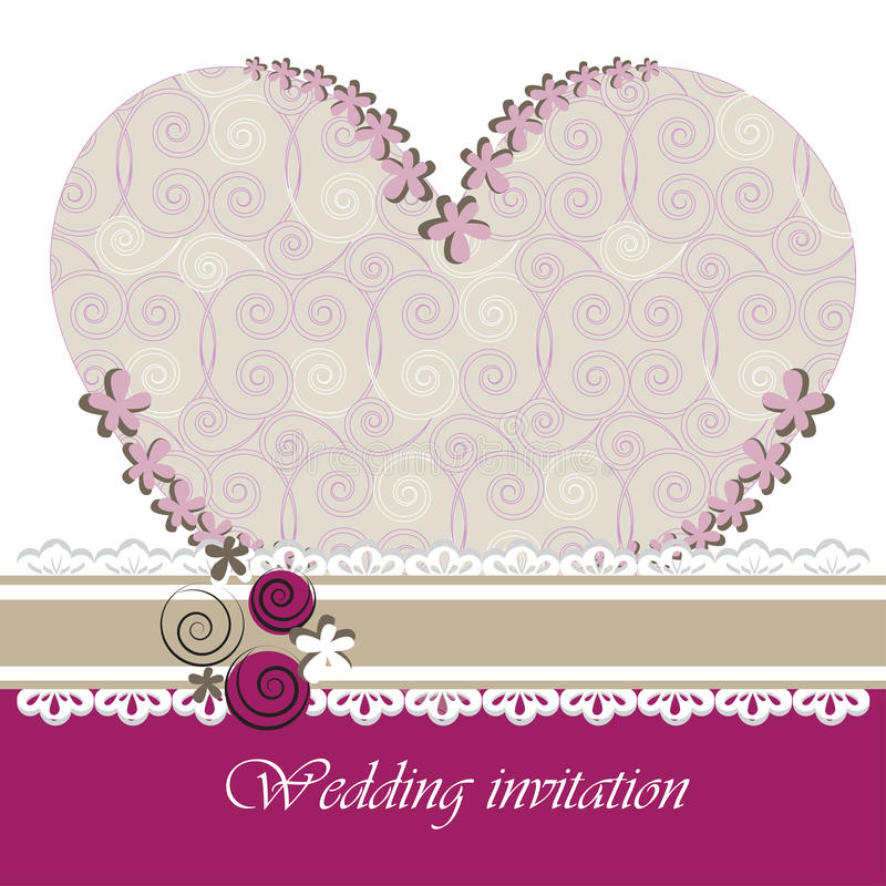Download Wedding Invitation Card With Floral Elements. Stock Vector - Image: 38564321