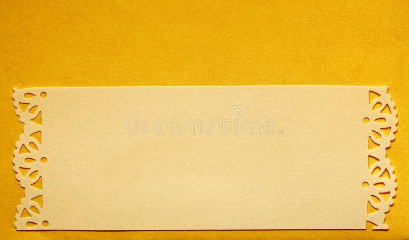 Wedding invitation card paper cutting design stock photo image of wedding invitation yellow card paper cutting design papercraft empty banner stopboris Images