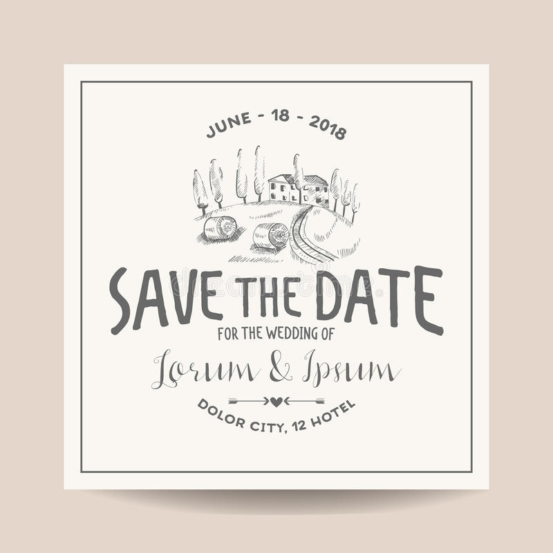 Wedding Invitation Card. Save The Date Stock Vector - Illustration ...