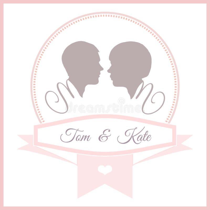 Wedding Invitation Card Template Stock Vector - Illustration of ...