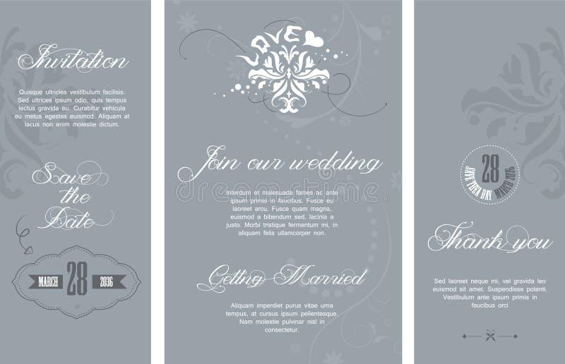 Wedding invitation stock illustration