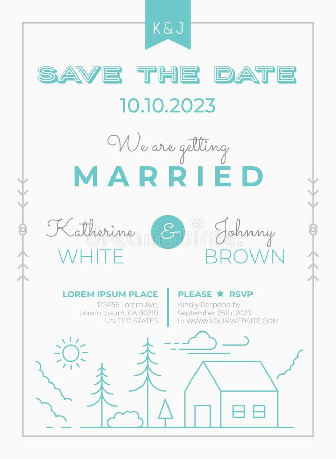 Wedding Invitation Template royalty free stock image